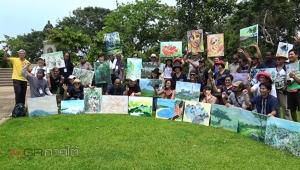 """ศิลปินไทยเทศร่วมวาดภาพในงาน """"เขาน้อยร้อยงานศิลป์"""" ชวนท่องเที่ยวเมืองของสงขลา (ชมคลิป)"""