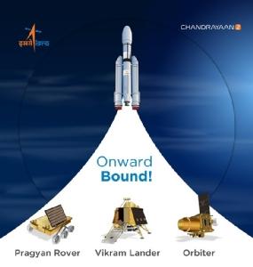 """ชมภาพประกอบ: สุดยิ่งใหญ่! อินเดียปล่อยจรวดส่ง """"ยานจันทรายาน-2"""" ไปดวงจันทร์สำเร็จ - """"โมดี"""" ชื่นชมความสำเร็จ"""