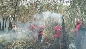 รมว.ทส. สั่งระดมชุดปฏิบัติการพิเศษดับไฟป่าทั่วประเทศลงพื้นที่ช่วยดับไฟป่าพรุควนเคร็ง