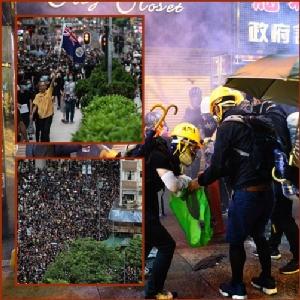 In Pics: ตำรวจฮ่องกงจับผู้ประท้วงไม่ต่ำกว่า 20 หลังปะทะวันเสาร์มียิงแก๊สน้ำตาที่เกาลูน-ร้านถนนนาธานปิดเงียบ