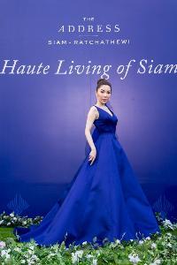 ศีกัญญา ศักดิเดช ภาณุพันธ์ เป๊ะสไตล์ของสาวปอในชุดราตรียาวอลังการสีน้ำเงินสด