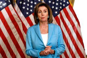 นางแนนซี เพโลซี ประธานสภาผู้แทนราษฎรของสหรัฐฯ