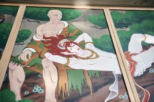 """เถียงกันใหญ่เหมาะไม่เหมาะ? วัดโบราณญี่ปุ่นปลุกกระแส """"วาย"""" วาดฝาผนังบรรพบุรุษลงอ่างล่อนจ้อนหวังดึงคนรุ่นใหม่เที่ยว"""