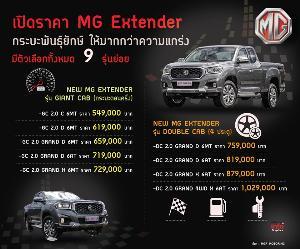 ขับครั้งแรก เอ็มจี เอ็กซ์เทนเดอร์  กระบะน้องใหม่ตลาดไทย
