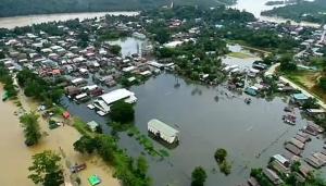 (ชมคลิป)น้ำท่วมหนัก!! เมืองตะนาวศรี เมียนมากระทบถึงชายแดนประจวบฯ-มะริด
