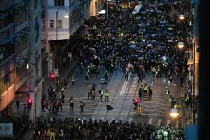 <i>การชุมนุมประท้วงในฮ่องกงเมื่อช่วงปลายเดือนกรกฎาคมที่ผ่านมา </i>