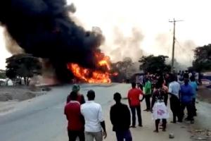 รถน้ำมันระเบิดในยูกันดา ดับอนาถ 19 ศพ