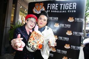 """เสือสาว ซุป'ตาร์ตัวแม่ """"อั้ม พัชราภา"""" ร่วมฉลองความสำเร็จ Fire Tiger by Seoulcial Club พร้อมเปิดตัวเมนูใหม่ """"เสือหิมะ"""""""