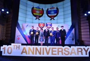 ผู้ได้รับรางวัลมูลค่าแบรนด์องค์กรสูงสุดในอาเซียน