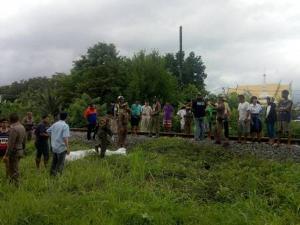 สุดสลด! ผู้ป่วยจิตเวชกระโดดให้รถไฟชนร่างกระเด็นเสียชีวิตคาที่