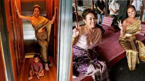 """หลีกทางให้แม่ด้วย """"คริสซี เทเกน"""" สวยตะลึงในชุดไทย"""