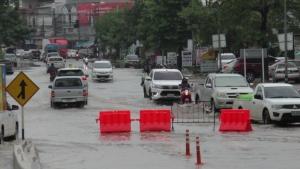 สภาพน้ำท่วมในเขตเทศบาลเมืองมหาสารคาม