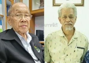 ศาสตราจารย์เกียรติคุณ นายแพทย์วิฑูรย์ อึ้งประพันธ์ (ซ้าย) สมชาย หอมลออ (ขวา)
