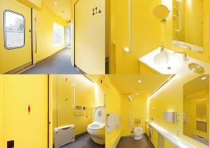 สวยสะอาดตาแม้ในห้องน้ำ (ภาพจากเซบุ เรลเวย์)