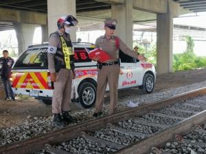 รปภ.ถูกรถไฟชนเสียชีวิต พบอุปกรณ์ดื่มสุราวางอยู่ข้างรางรถไฟ