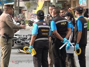 ตร.เข้าระงับเหตุผัวเมียทะเลาะวิวาท เจอยิงใส่สวมชุดเกราะปลอดภัย ตำรวจยิงสวนคืนดับ
