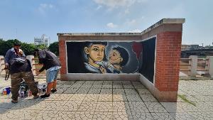 กสศ.เปิดสวนชมน่าน นำศิลปินกราฟฟิตี้โชว์ศิลปะสะท้อนปัญหาคอซองท้องก่อนวัย