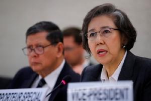 ยางฮี ลี ผู้แทนพิเศษสหประชาชาติด้านสถานการณ์สิทธิมนุษยชนในพม่า.
