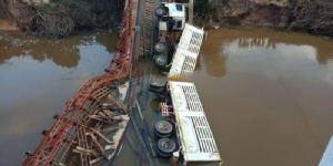 ทล.เร่งวางสะพานเบลีย์ใหม่ที่อำนาจเจริญ หลังพังเพราะรถพ่วงน้ำหนักเกิน
