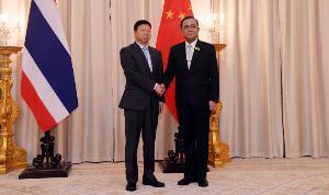 รมต.กระทรวงวิเทศสัมพันธ์พรรคคอมมิวนิสต์จีน กระชับสัมพันธ์ไทย ชื่นชมรัฐบาลบริหารประเทศพัฒนาก้าวหน้า