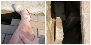 สาวโชคร้าย! เดินตกทางเท้า พบด้านล่างไม่มีแม้แต่ทราย แจ้งหน่วยงานต้องรออีกเป็นเดือน