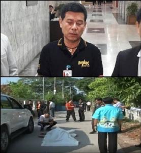 (บน) นายนวัธ เตาะเจริญสุข ส.ส.ขอนแก่น เขต 7 พรรคเพื่อไทย (ล่าง) เหตุการณ์วันเกิดเหตุ
