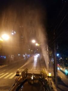 """กทม.ค่าฝุ่น PM 2.5 เกินมาตรฐาน 24 จุด """"บางพลัด"""" สูงสุด หลายเขตทยอยฉีดพ่นน้ำลดฝุ่น"""