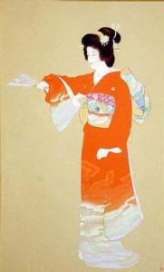 """ยลศิลป์ยินญี่ปุ่น """"ภาพหญิงงามยามร่ายรำเรียบง่าย"""""""