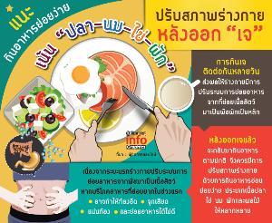 """แนะกินอาหารย่อยง่าย เน้น """"ปลา-นม-ไข่-ผัก"""" ปรับสภาพร่างกายหลังออกเจ"""