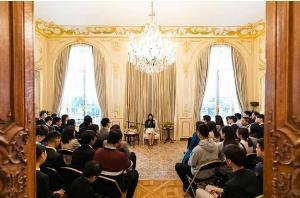 เจ้าฟ้าสิริวัณณวรีฯ พระราชทานพระราชวโรกาสให้คณะนักเรียนไทยในฝรั่งเศสเข้าเฝ้าฯ
