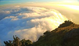 ทะเลหมอกลอยละล่องบนยอดเขาโมโกจู