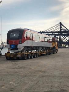 ถึงไทยแล้ว! รถไฟสายสีแดง 2 ขบวนแรก