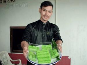 หนุ่มสตูลไลฟ์สดโชว์ทำขนมสูตรโบราณ ผู้คนสนใจสั่งออเดอร์ล้นหลาม