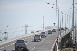 """เปิดจราจร """"สะพาน"""" ข้ามทางหลวงหมายเลข 9 เชื่อมถนนศรีนครินทร์-ร่มเกล้า สมบูรณ์ 7 ช่วง"""