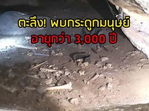 ตะลึง! พบกระดูกมนุษย์ยุคหินใหม่อายุกว่า 3 พันปี ที่เขาถ้ำแรด จ.ตรัง