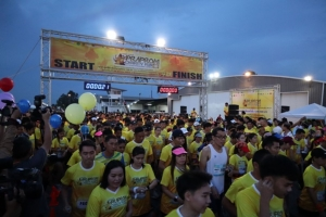 """นักวิ่งกว่า 3,000 คน พร้อมใจร่วมงาน """"พระพรหมเครือสหพัฒน์ แชริตี้ รัน"""" ประเดิมสนามแรกศรีราชา"""