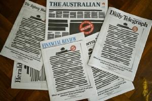 นสพ.ออสซี่พร้อมใจ 'เซ็นเซอร์' หน้าหนึ่ง ประท้วงรัฐบาลคุกคามสื่อ
