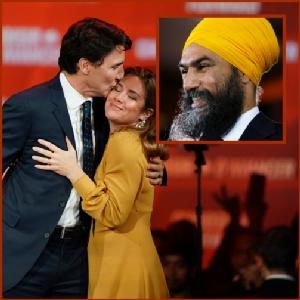 """In Pics&Clips : ใจหายใจคว่ำ! """"จัสติน ทรูโด"""" ชนะเลือกตั้งแคนาดาแบบเฉียดฉิว ดาวรุ่ง """"จักมีต ซิงห์"""" ชาวซิกข์โพกผ้าเหลืองผงาด"""
