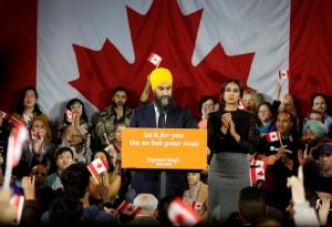 จักมีต ซิงห์ (Jagmeet Singh) หัวหน้าพรรคนิวเดโมเครติกปาร์ตี NDP