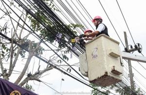กฟภ.เบตงเปิดโครงการจัดระเบียบสายสื่อสารโทรคมนาคมบนเสาไฟฟ้า