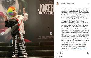 """ทูลกระหม่อมฯ ทรงฉลองพระองค์ชุด """"โจ๊กเกอร์"""" เสด็จทอดพระเนตรภาพยนตร์ พร้อมทรงติดแฮชแท็ก """"ภาพยนตร์คือชีวิตจริง"""""""