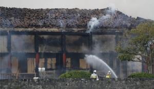 In Pics : ไฟไหม้ 'ปราสาทชูริ' มรดกโลกแห่งโอกินาวา ท้องพระโรงหลักถูกเผาเหลือแต่ซาก
