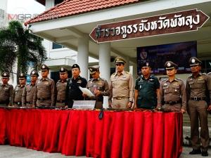 ผู้การเมืองลุงแถลงข่าวกวาดล้างอาวุธปืน จับกุมผู้กระทำความผิดในคดีค้างเก่าเพียบ