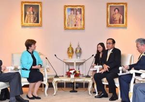 """บิ๊ก IMF พบ """"บิ๊กตู่"""" ชี้ไทยมีช่องปรับนโยบายการเงิน ชื่นชมเศรษฐกิจพอเพียงเตรียมนำเผยแพร่ทั่วโลก"""