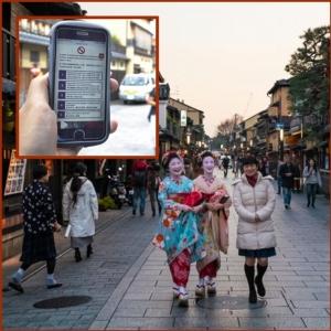 """In Clips : สุดทน! ญี่ปุ่นสั่งห้ามเซลฟี """"เกอิชา"""" ในเกียวโต หลังนักท่องเทียวต่างชาติรุมล้อมวิ่งไล่ขอถ่ายภาพด้วย"""
