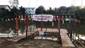 ชุมชนริมแม่น้ำปิงเชียงใหม่จัดตกแต่งสถานที่และท่าน้ำบรรยากาศพื้นเมืองเตรียมพร้อมงานยี่เป็ง