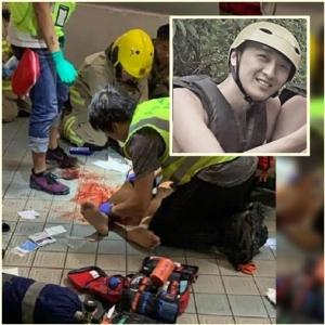 """InPics & Clip : เหยื่อดับรายแรกประท้วงฮ่องกง """"นักศึกษาฮ่องกง"""" วัย 22 หล่นจากลิฟต์ลานจอดรถเสียชีวิตแล้ว"""