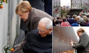 """ผู้นำเยอรมนีปลุกยุโรปปกป้อง """"ประชาธิปไตย"""" ในวันครบรอบ 30 ปีกำแพงเบอร์ลินล่มสลาย"""