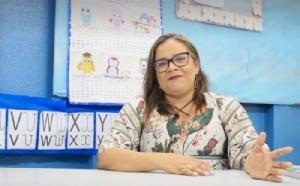 เอเดรียน่า เลอิเต้ คุณครูประจำโรงเรียนแห่งหนึ่งใน มาเซโอ