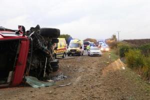 รถบรรทุกชนรถบัสโดยสารในสโลวาเกีย ตายแล้ว 12 ราย